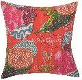 Indian Tropical Kantha Cushion Cover
