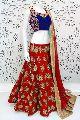 Embroidered Banglori Silk Lehenga Choli