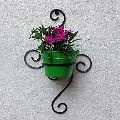 Green Wrought Iron Wall Planters
