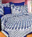 cotton fabric Jaipuri peacock feathers print Queen bedsheet