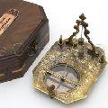 Equatorial Pocket sundial box compass