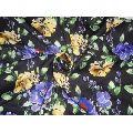 black floral print Scuba Knit fabric