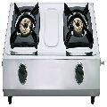 Double Burner Stainless Steel Gas Stove