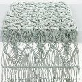 Handwoven Wedding Lace Macrame Tassel Decoration Table Runner