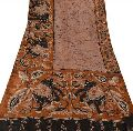 Vintage Indian Silk Batik Saree