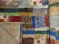 Handmade Kantha Patchwork Sari Quilt