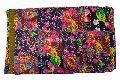 Patchwork Floral Kantha Quilt, Indian Throw