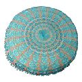 Mandala embroidery round yoga zafu meditation floor cushion