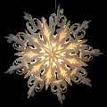 Flower Snowflake Shaped Christmas Paper Star Lamp