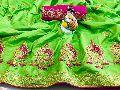 sana silk with embroidery work saree
