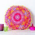 Cotton Woolen seat cushion Aari Embroidery Design