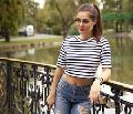 New Arrival Women's Striped Crop Top