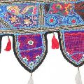 Embroidered Patchwork Door Valances Hippie Cotton Ethnic Wall Hanging