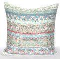 Indian Pure Cotton Handmade Kantha Work Designer Sofa Cushion Cover Case