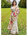 Floral Printed Satin Net Saree