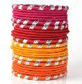 Traditional Gota Silk Thread Bangle