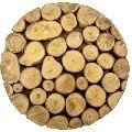 Wooden Wood Logs Trivet