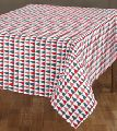 printed woven table cloth