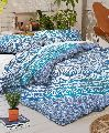 BLUE OMBRE INDIAN DOONA DUVET QUILT COVER