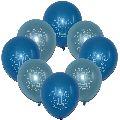 Sky Blue Printed Balloons