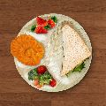 WoodKa 12 Inch Partition Round plate, Biodegradable plate, Areca Leaf Plate