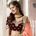 Indian Designer Bridal Fish Cut Tail Lehenga