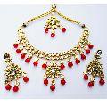 Meena Kundan Wedding Designer Handmade Necklace Jewelry set