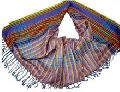 Ladies multi colour stripes cotton beach wrap