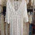 White Summer Women Floral Beach Dress Bikini Cover up Kaftan