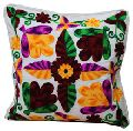 Indian Jaipuri Pure Cotton Designer Suzani Work Sofa Cushion Cover