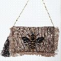 Jute Embroidered Sling Bags