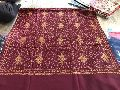 Maroon Pashmina Embroidered Shawl