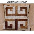 Handmade Leather Patchwork Cushion Cover