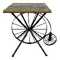 Iron cafe table with Wooden Top