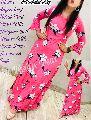 Rayon Long Floral Printed Dress