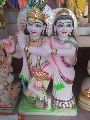 1.5 Feet White Marble Radha Krishna Statue