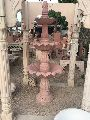 5 Feet Pink Stone Fountain