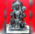 Black Stone Hanuman Statue