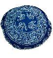Blue Elephant Mandala Cushion Cover
