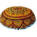 Brown Mandala Cushion Cover