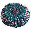 Green Mandala Cushion Cover