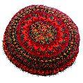 Red Ottoman Mandala Cushion Cover