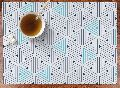 Blue Table Lunch Mat