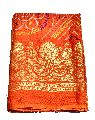 Women Blouse Piece Bandhej Bandhani Georgette Saree