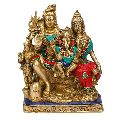 Brass Shiva Family Statue