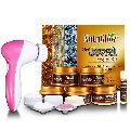 Nutriglow 3 in 1 Jewel Facial Kit_260 GM with 5 in 1 Rotating Face Massager