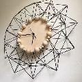 Wire Geometric Wall Clock
