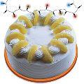 Round Shaped Pineapple Cake