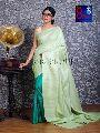 Tussar Ghicha Silk Saree with Color Border