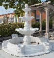Pure White Stone Fountain